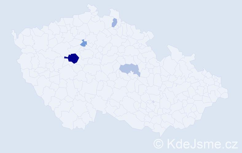 Příjmení: 'Kasseckertová', počet výskytů 9 v celé ČR