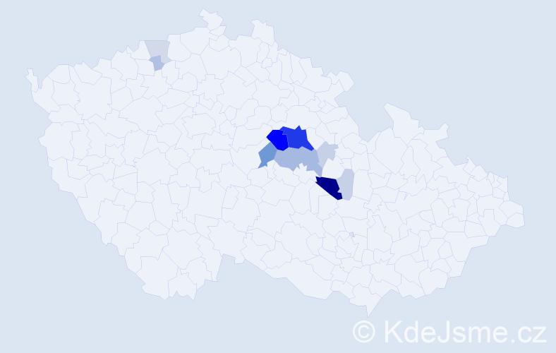 Příjmení: 'Lejhanec', počet výskytů 49 v celé ČR