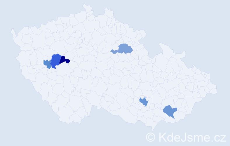 Příjmení: 'Holmannová', počet výskytů 9 v celé ČR