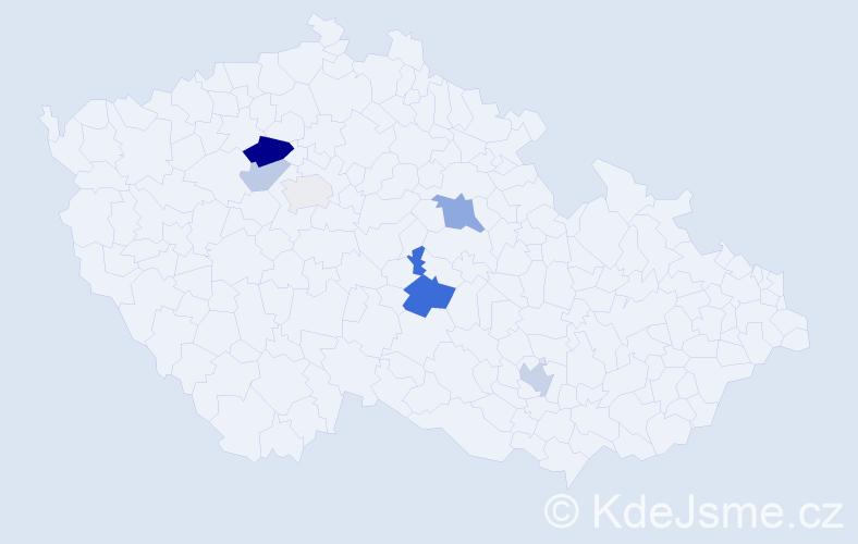 Příjmení: 'Abbrentová', počet výskytů 13 v celé ČR