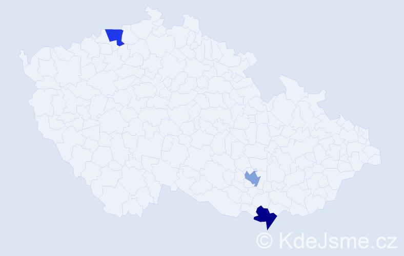 Příjmení: 'Kastrati', počet výskytů 3 v celé ČR
