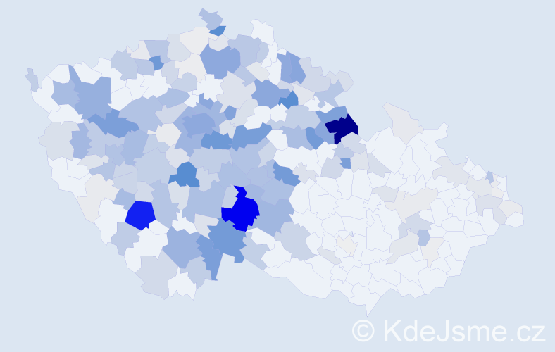 Příjmení: 'Jirsa', počet výskytů 880 v celé ČR