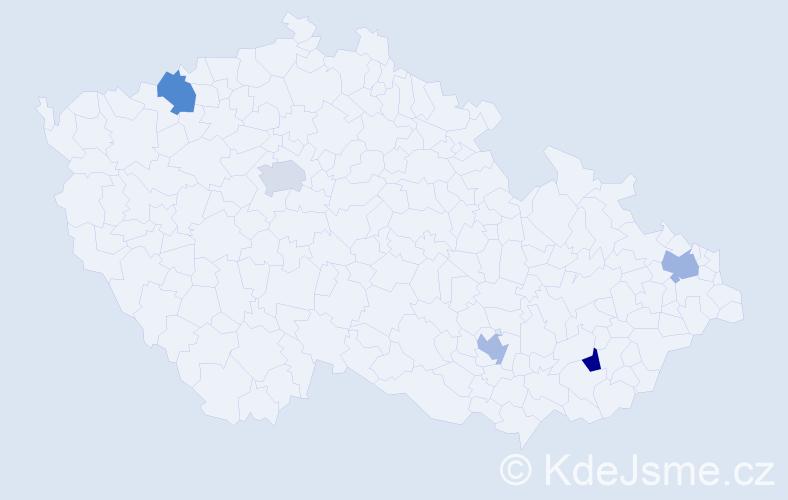 Příjmení: 'Leone', počet výskytů 5 v celé ČR