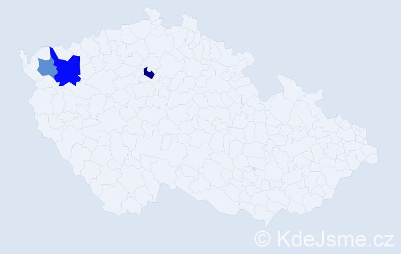 Příjmení: 'Klöckerová', počet výskytů 4 v celé ČR