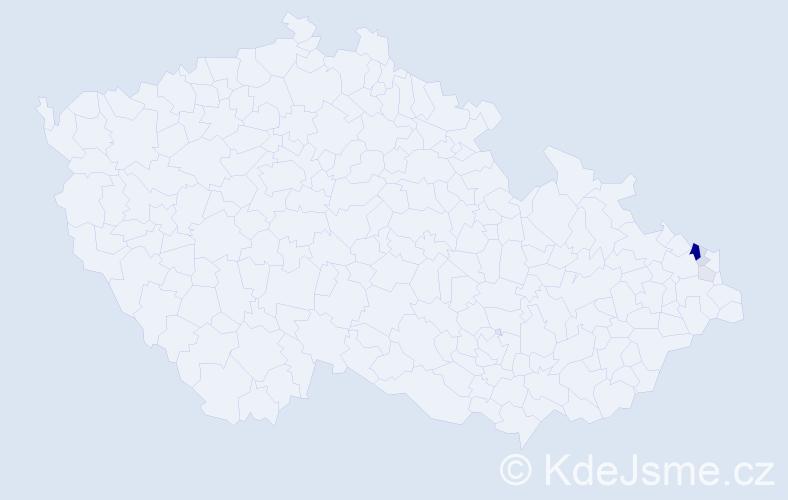 Příjmení: 'Janoszowská', počet výskytů 15 v celé ČR