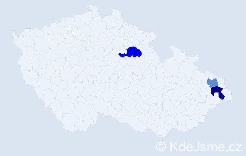 Příjmení: 'Laskavský', počet výskytů 3 v celé ČR