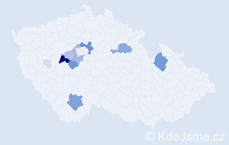 Příjmení: 'Bajtoš', počet výskytů 24 v celé ČR