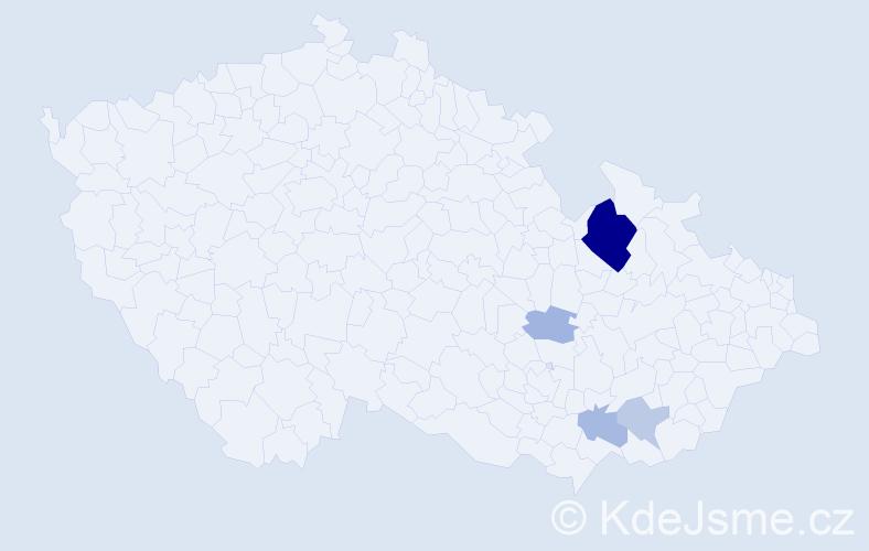 Příjmení: 'Draňa', počet výskytů 11 v celé ČR