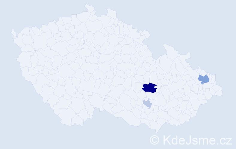 Příjmení: 'Glatzner', počet výskytů 5 v celé ČR