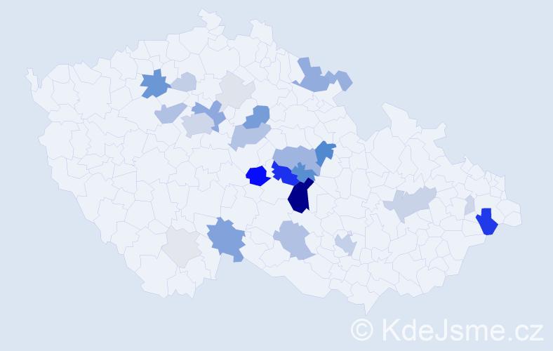 Příjmení: 'Filippi', počet výskytů 103 v celé ČR