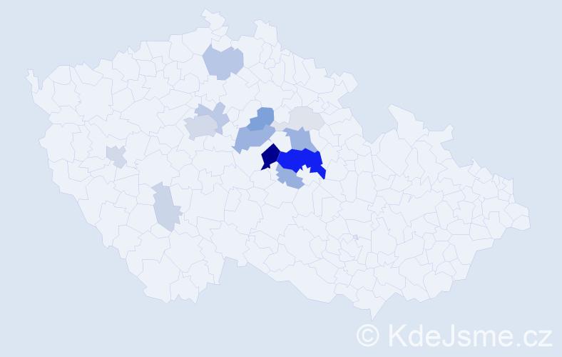 Příjmení: 'Honzíček', počet výskytů 47 v celé ČR