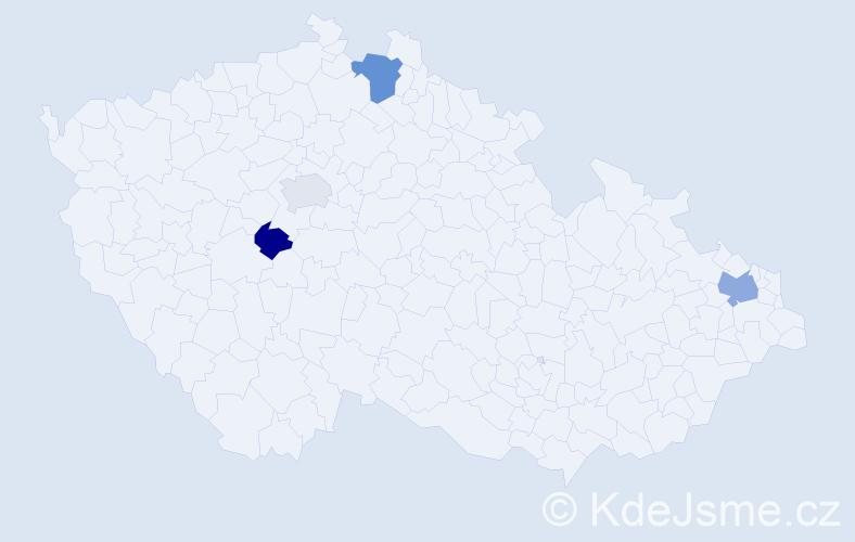 Příjmení: 'Čarňanská', počet výskytů 6 v celé ČR
