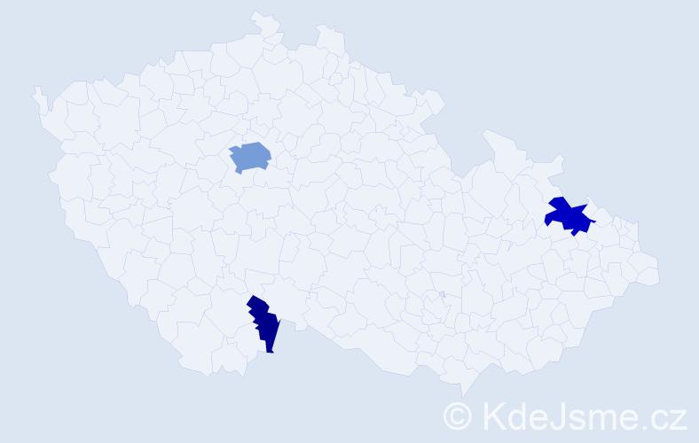 Příjmení: 'Helfert', počet výskytů 12 v celé ČR