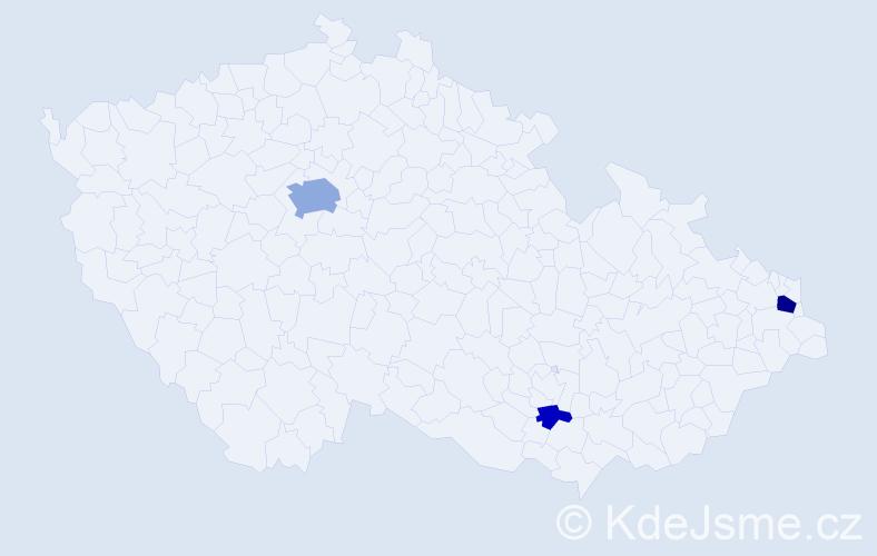 Příjmení: 'Eineigel', počet výskytů 9 v celé ČR