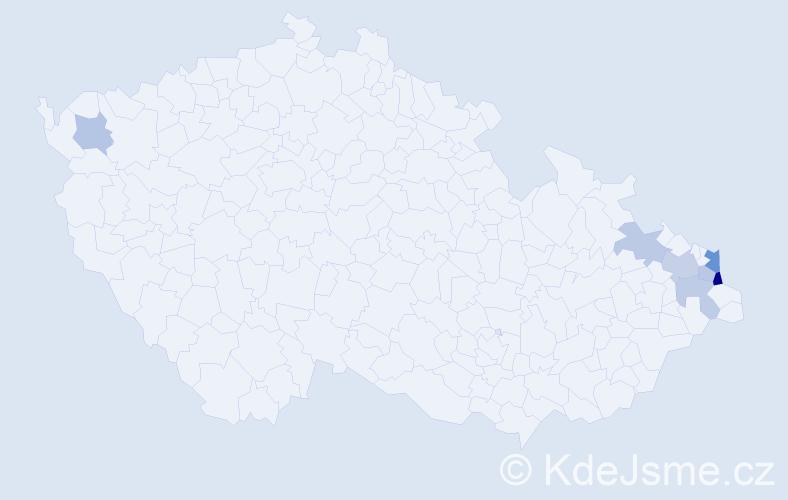 Příjmení: 'Gaśová', počet výskytů 12 v celé ČR
