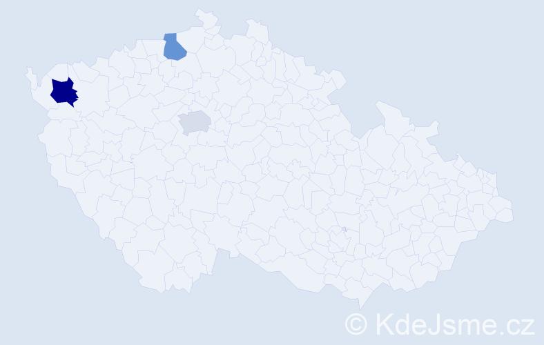 Příjmení: 'Iždinská', počet výskytů 4 v celé ČR
