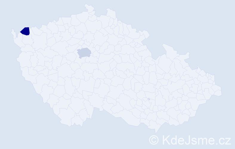 Příjmení: 'Bruoth', počet výskytů 5 v celé ČR