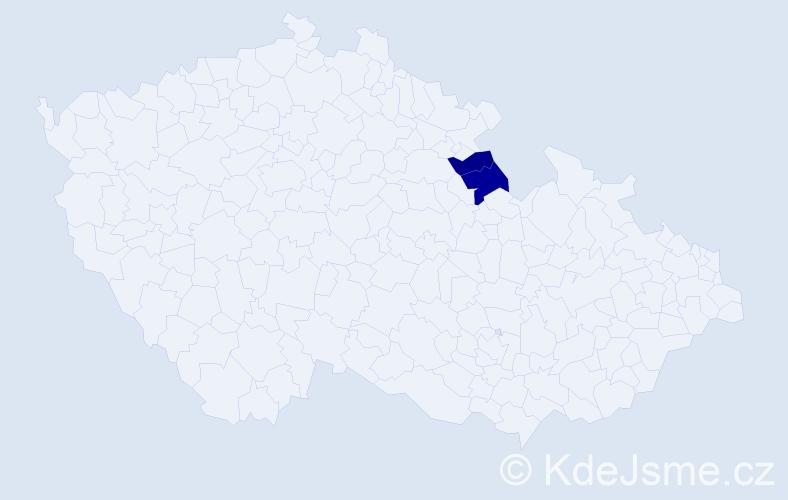 Příjmení: 'Dirlam', počet výskytů 8 v celé ČR