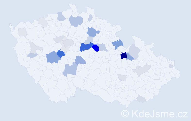 Příjmení: 'Dařílková', počet výskytů 108 v celé ČR