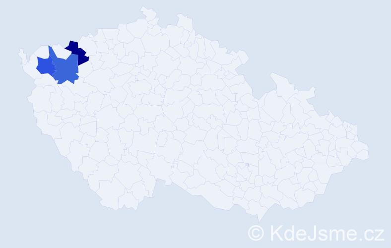 Příjmení: 'Čáníková', počet výskytů 3 v celé ČR