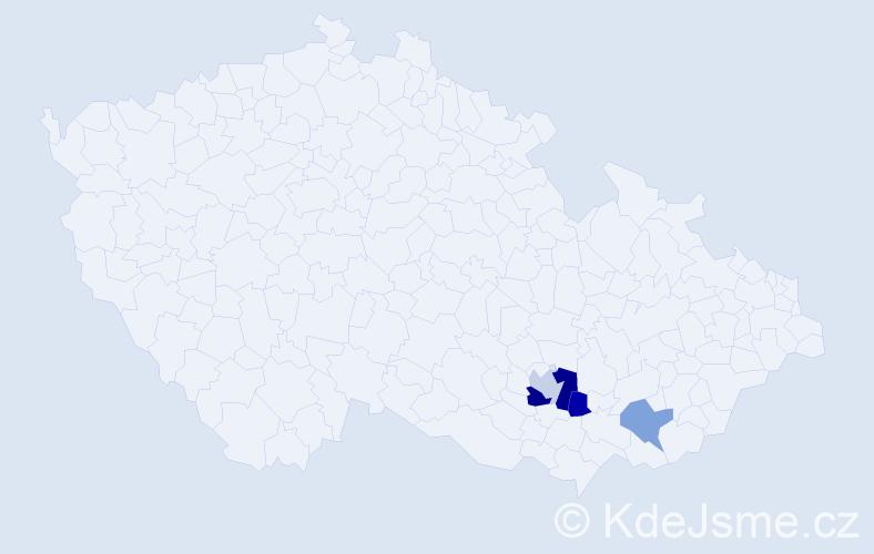 Příjmení: 'Cecálek', počet výskytů 6 v celé ČR