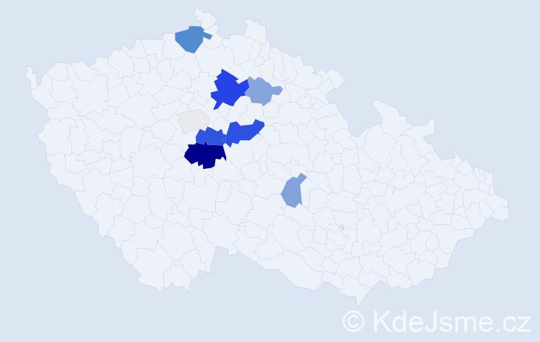 Příjmení: 'Dyškantová', počet výskytů 23 v celé ČR