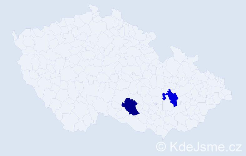 Příjmení: 'Cydlík', počet výskytů 4 v celé ČR