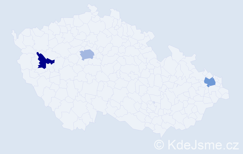 Příjmení: 'Čobanová', počet výskytů 13 v celé ČR