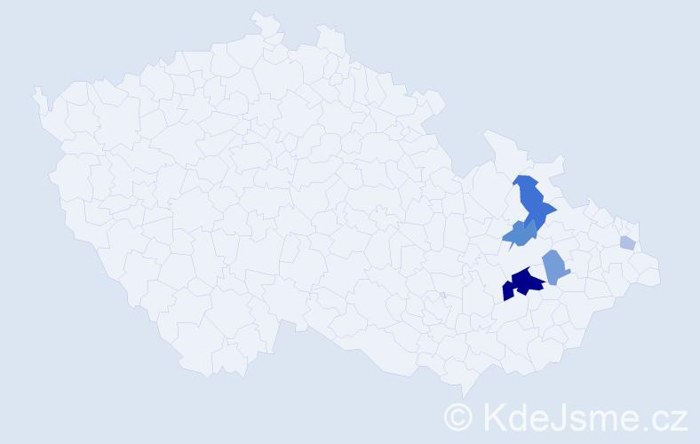 Příjmení: 'Čider', počet výskytů 12 v celé ČR