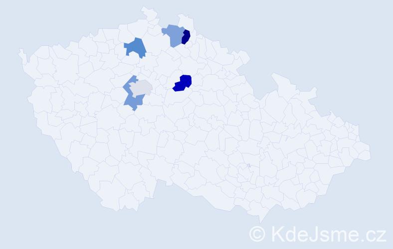 Příjmení: 'Englberthová', počet výskytů 7 v celé ČR