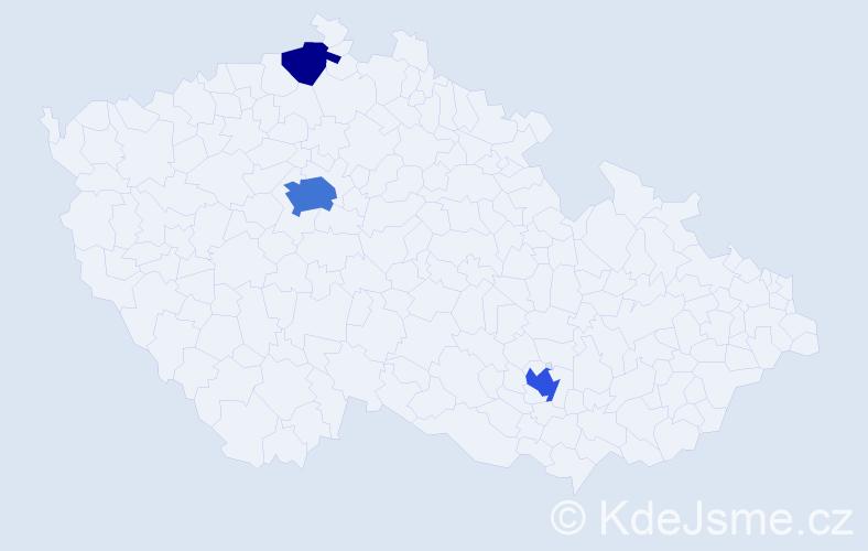 Příjmení: 'Mährischlová', počet výskytů 8 v celé ČR
