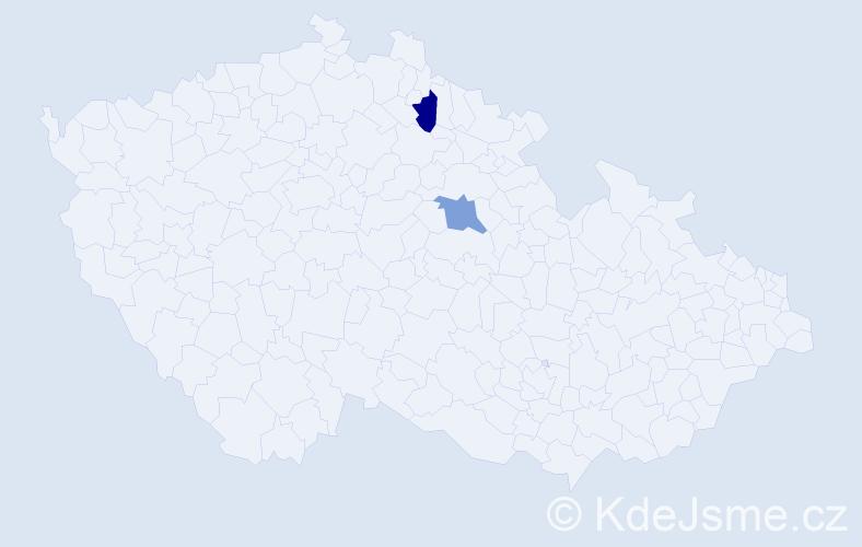 Příjmení: 'Gruševský', počet výskytů 2 v celé ČR