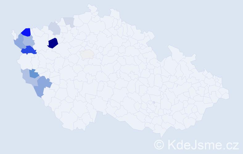 Příjmení: 'Gregorides', počet výskytů 19 v celé ČR
