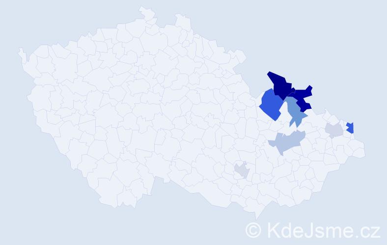 Příjmení: 'Iliadisová', počet výskytů 16 v celé ČR