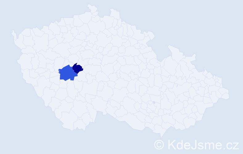 Příjmení: 'Lácová', počet výskytů 3 v celé ČR
