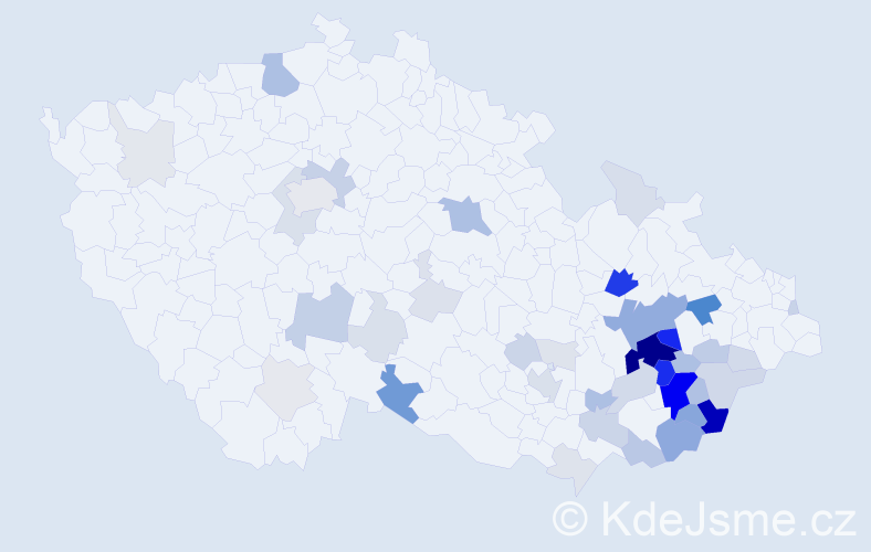 Příjmení: 'Barbořík', počet výskytů 173 v celé ČR
