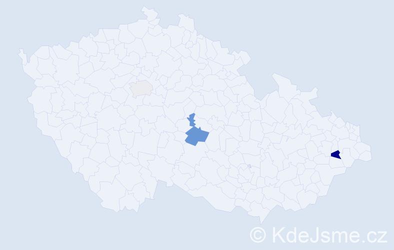 Příjmení: 'Janiczak', počet výskytů 5 v celé ČR