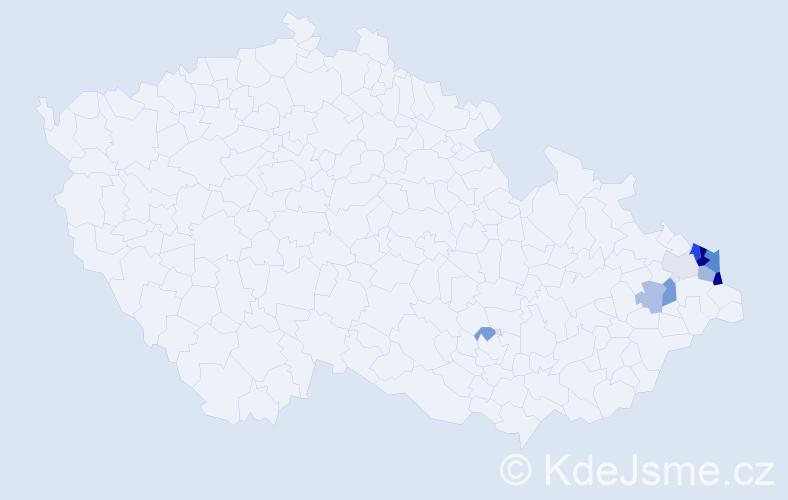 Příjmení: 'Fierlová', počet výskytů 26 v celé ČR