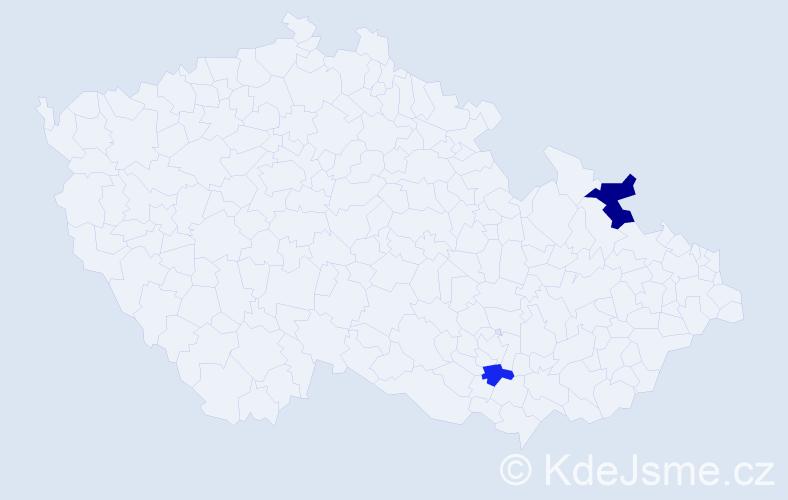 Příjmení: 'Ellison', počet výskytů 3 v celé ČR