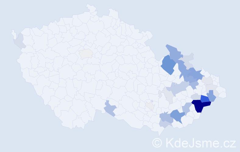 Příjmení: 'Kachtík', počet výskytů 91 v celé ČR