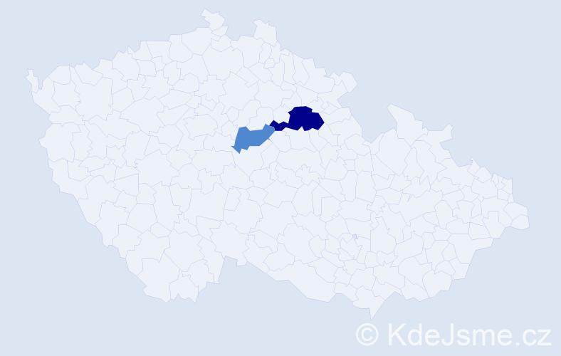 Příjmení: 'Eppich', počet výskytů 4 v celé ČR