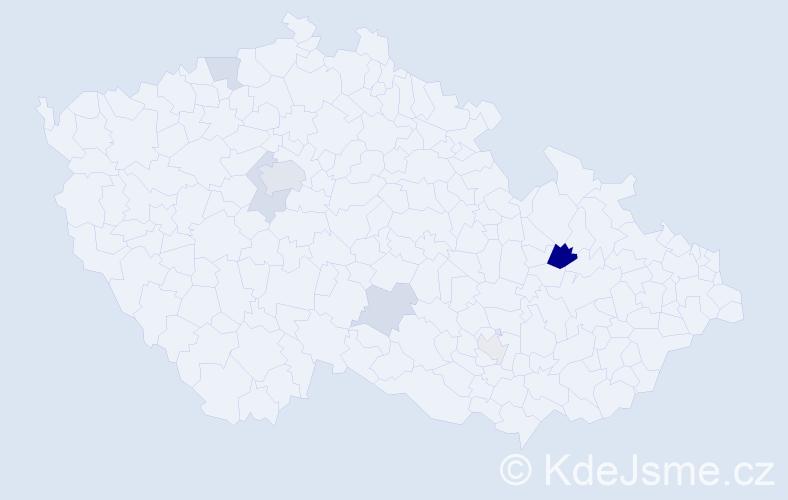 Příjmení: 'Hedererová', počet výskytů 14 v celé ČR
