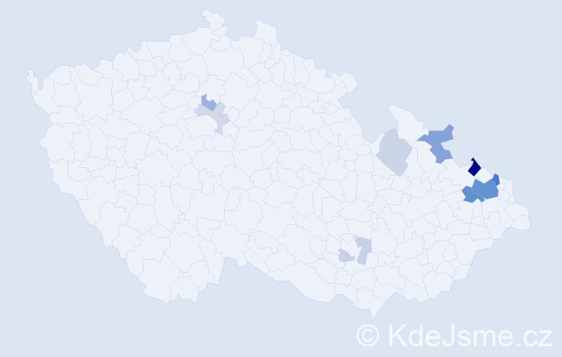 Příjmení: 'Bravanská', počet výskytů 30 v celé ČR