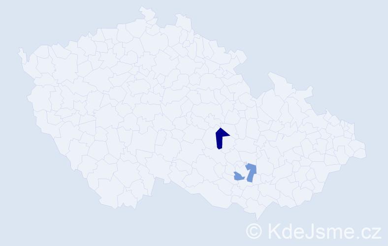Příjmení: 'Baršay', počet výskytů 2 v celé ČR