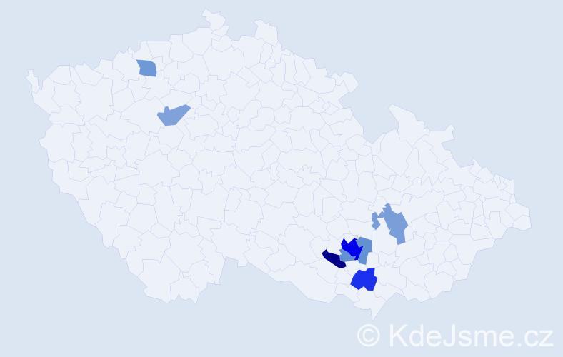 Příjmení: 'Fischmeister', počet výskytů 14 v celé ČR