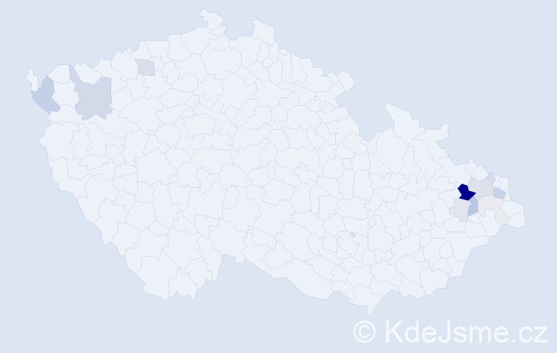Příjmení: 'Kilnarová', počet výskytů 39 v celé ČR