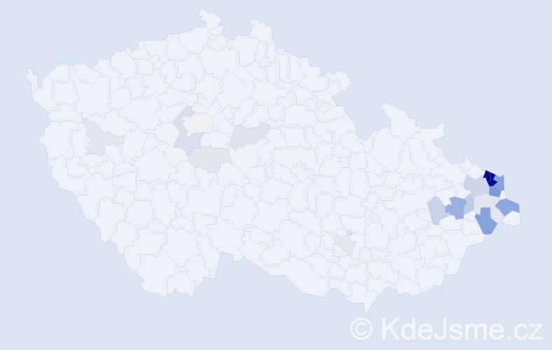Příjmení: 'Gabzdyl', počet výskytů 128 v celé ČR