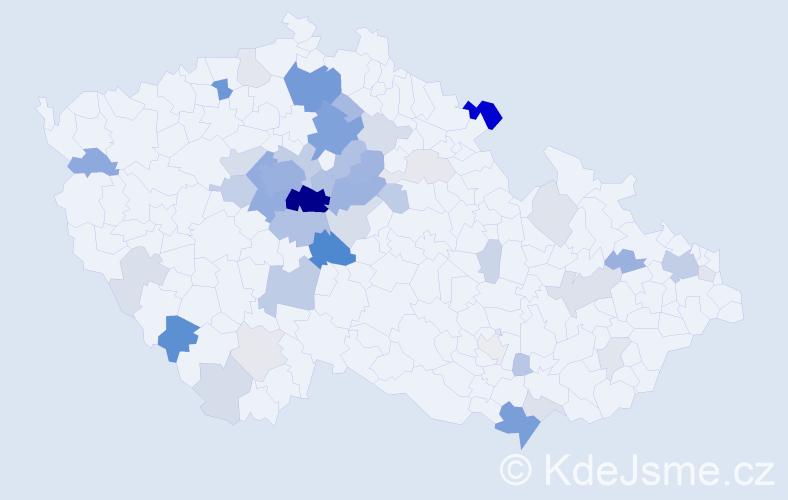 Příjmení: 'Čadil', počet výskytů 171 v celé ČR