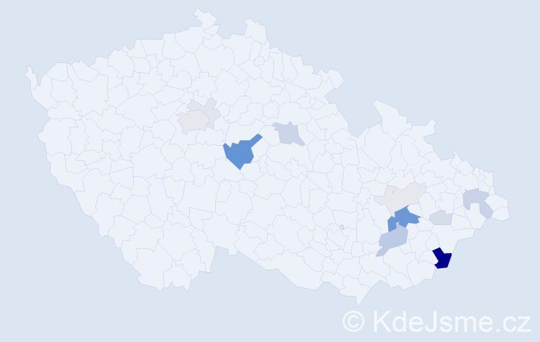 Příjmení: 'Ginter', počet výskytů 47 v celé ČR