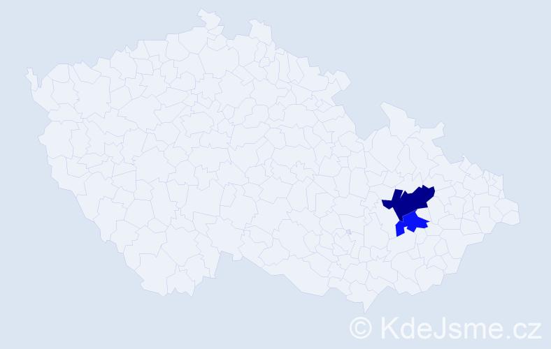 Příjmení: 'Kangelaris', počet výskytů 3 v celé ČR